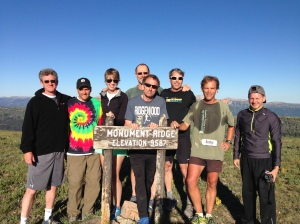 our team at the highest point (mid way through Day 2)