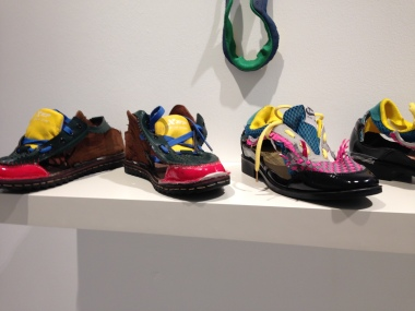 shoes made of bits and pieces