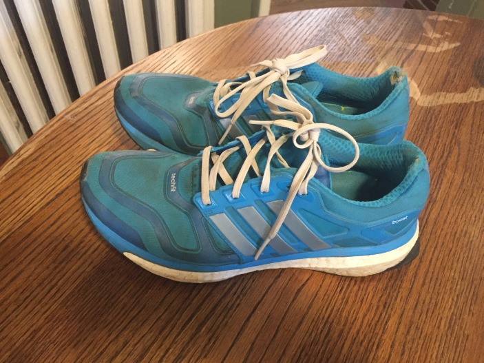 2nd pair Adidas boost--they're very tired. Philly Half