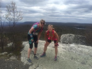 just before mile 35; the highest point in the course